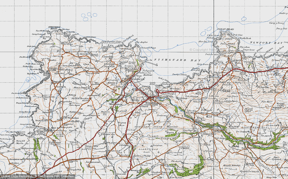 Old Map of Fishguard, 1947 in 1947