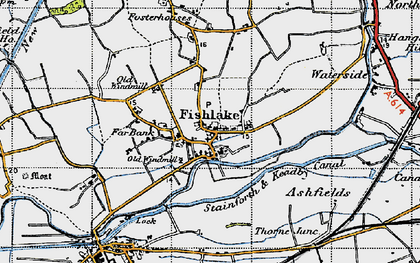 Old map of Ashfields in 1947