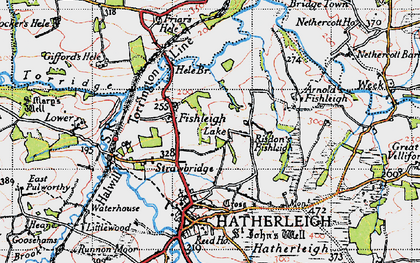 Old map of Lewer in 1946