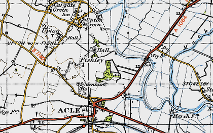 Old map of Acle Br in 1945