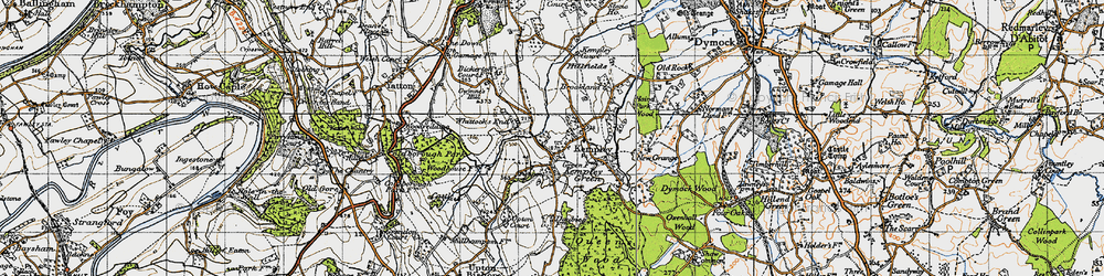 Old map of Whittocks End in 1947