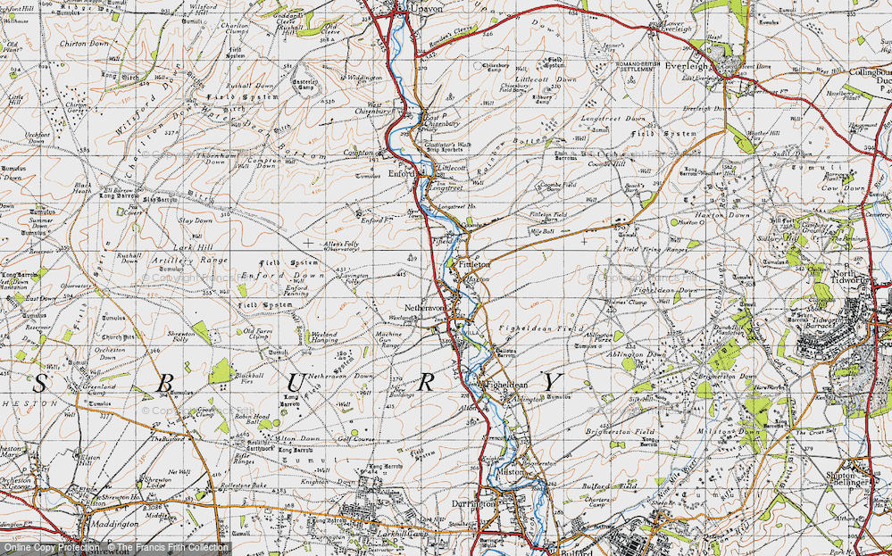 Old Map of Historic Map covering Lavington Folly in 1940