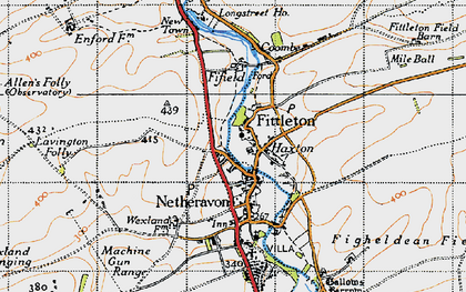 Old map of Airfield Camp Netheravon in 1940