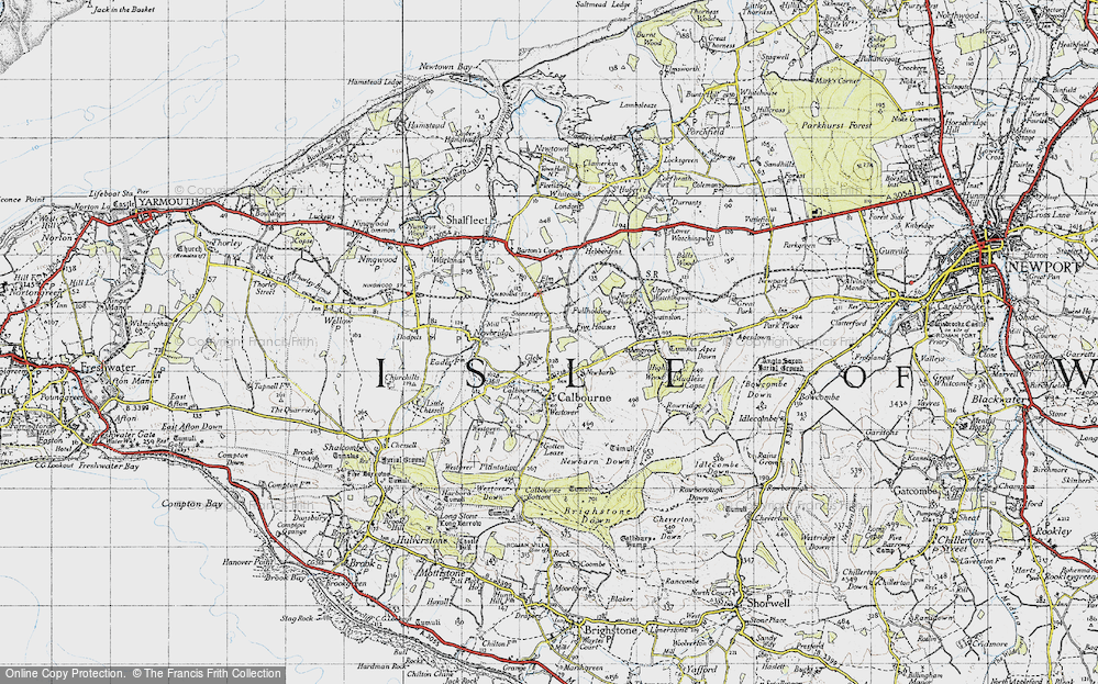 Old Map of Historic Map covering Ashengrove in 1945