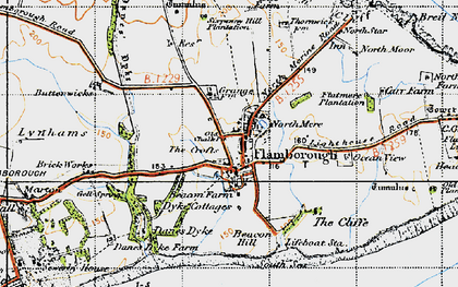 Old map of Flamborough in 1947