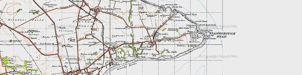 Old map of Flamborough in 1947
