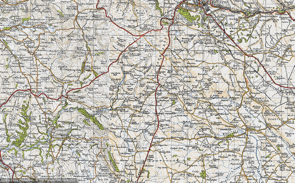Old Map of Historic Map covering Adder's Green in 1947