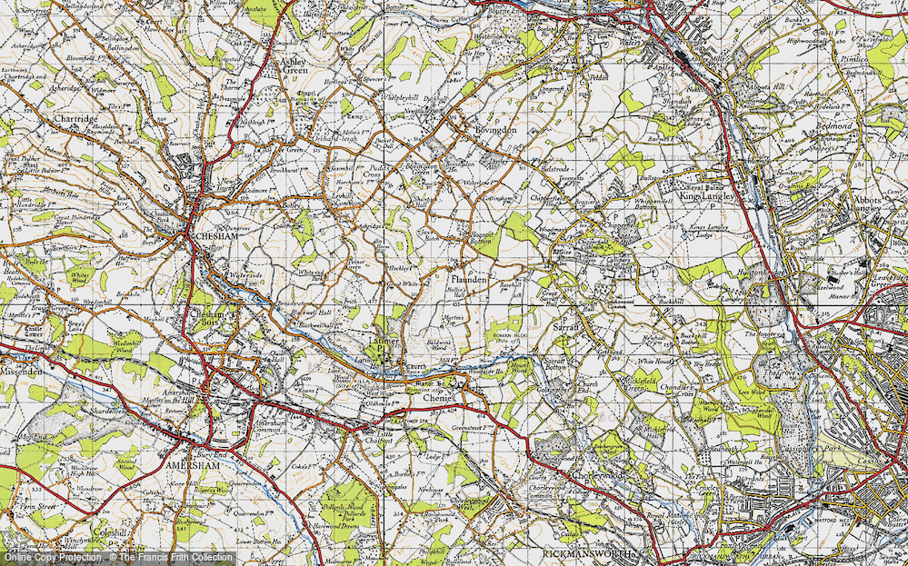 Old Map of Historic Map covering Baldwin's Wood in 1946