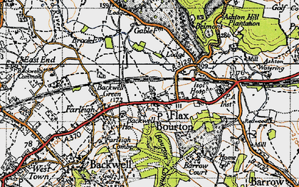 Old map of Backwell Ho in 1946