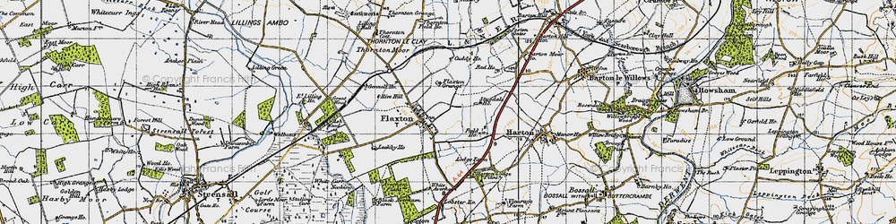 Old map of Wilks Plantn in 1947