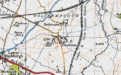 Old map of Berry Fields in 1946
