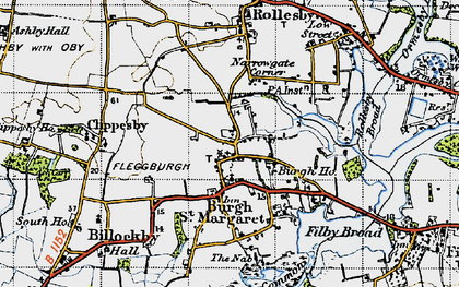 Old map of Lily Broad in 1945
