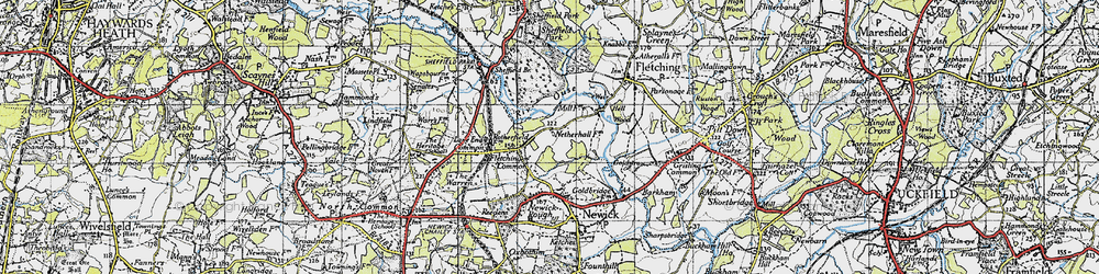 Old map of Lane End Common in 1940