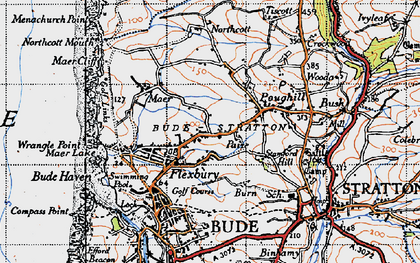 Old map of Flexbury in 1946