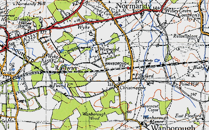 Old map of Westwood Place in 1940