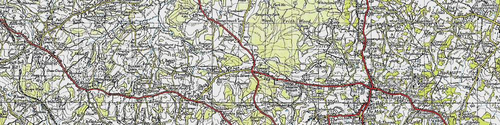 Old map of Flimwell in 1940