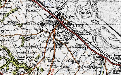 Old map of Flint in 1947