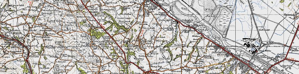 Old map of Flint Mountain in 1947