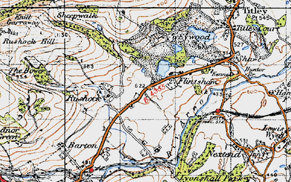 Old map of Titley Mill in 1947