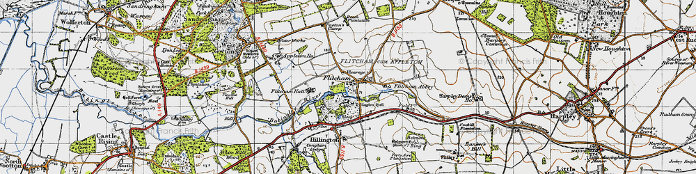 Old map of Westwood Belt in 1946