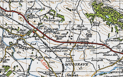 Old map of Bale Hill in 1947
