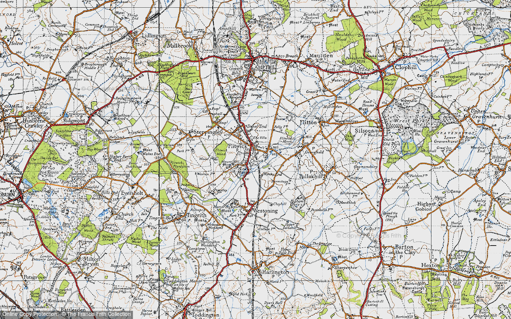 Old Map of Flitwick, 1946 in 1946