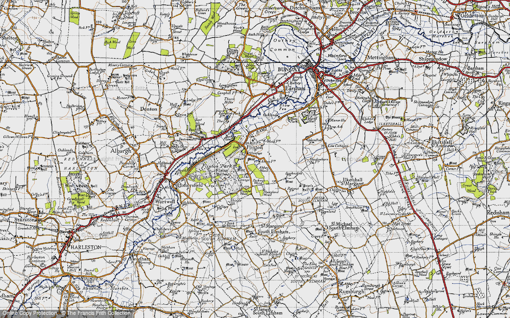 Old Map of Historic Map covering Abbey Wood in 1946
