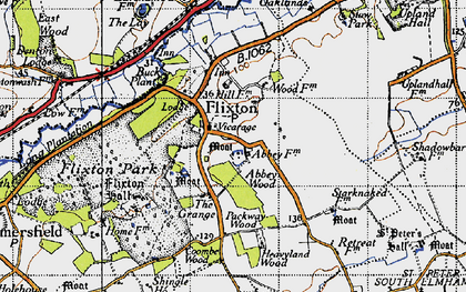 Old map of Lay, The in 1946