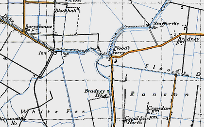 Old map of White Fen in 1946