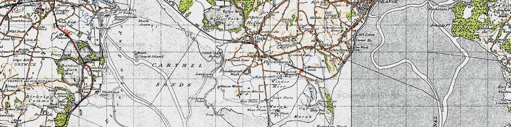 Old map of Winder Moor in 1947