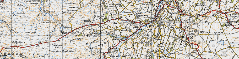 Old map of Wood Cottage in 1947