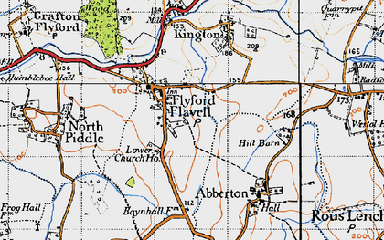Old map of Wychavon Way in 1947