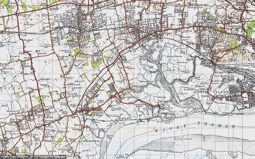 Old Map of Fobbing, 1946 in 1946