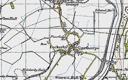Old map of Fockerby in 1947
