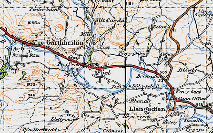 Old map of Allt Cae-dû in 1947