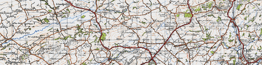 Old map of Wîg in 1947