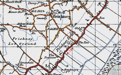 Old map of Abbey Hills in 1946