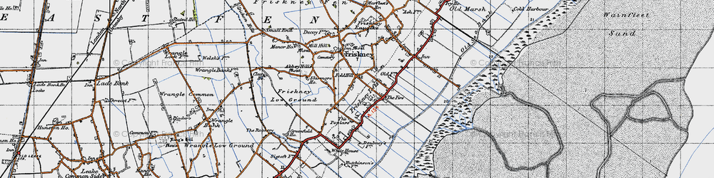 Old map of Abbey Hills (Earthworks) in 1946