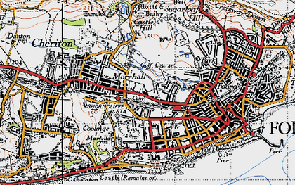 Old map of Folkestone in 1947