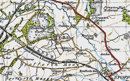 Old map of Aketon in 1947