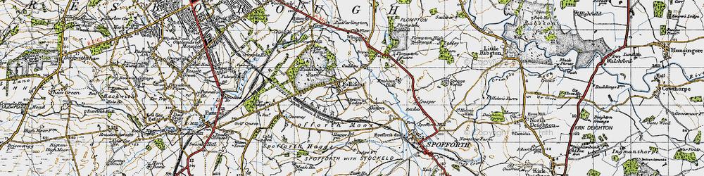 Old map of Aketon Lodge in 1947