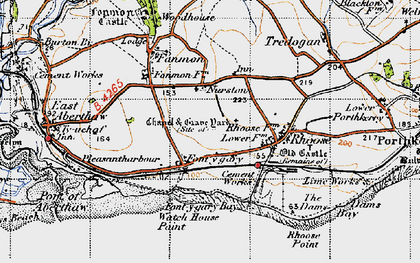 Old map of Font-y-gary in 1947