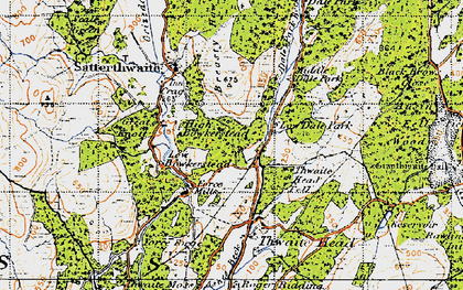 Old map of Ausin Fell Wood in 1947