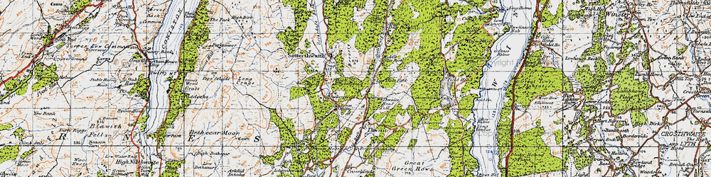 Old map of Thwaite Head Fell in 1947