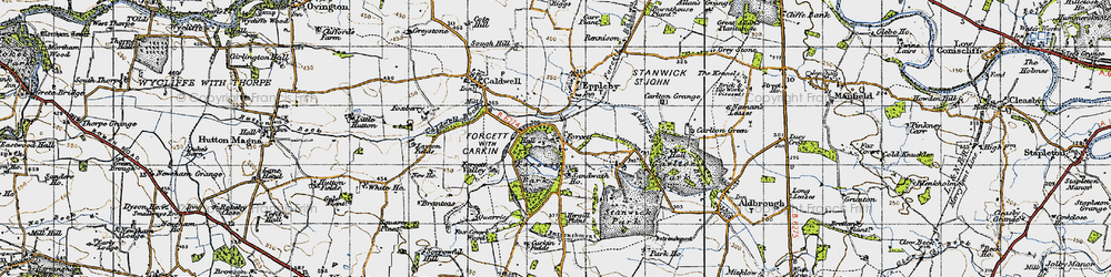 Old map of Forcett in 1947