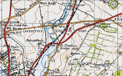 Old map of Ford in 1940