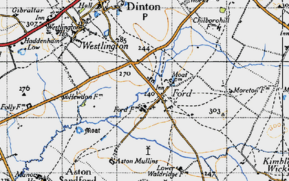 Old map of Aston Mullins in 1946