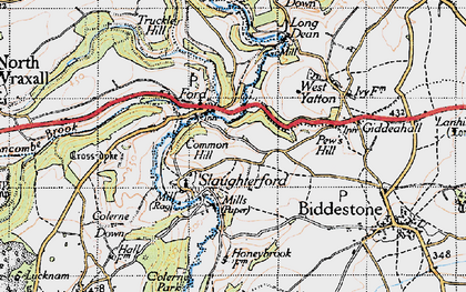 Old map of Ford in 1946
