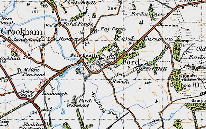 Old map of Ford in 1947