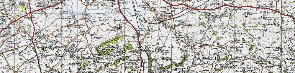 Old map of Wharton Court in 1947